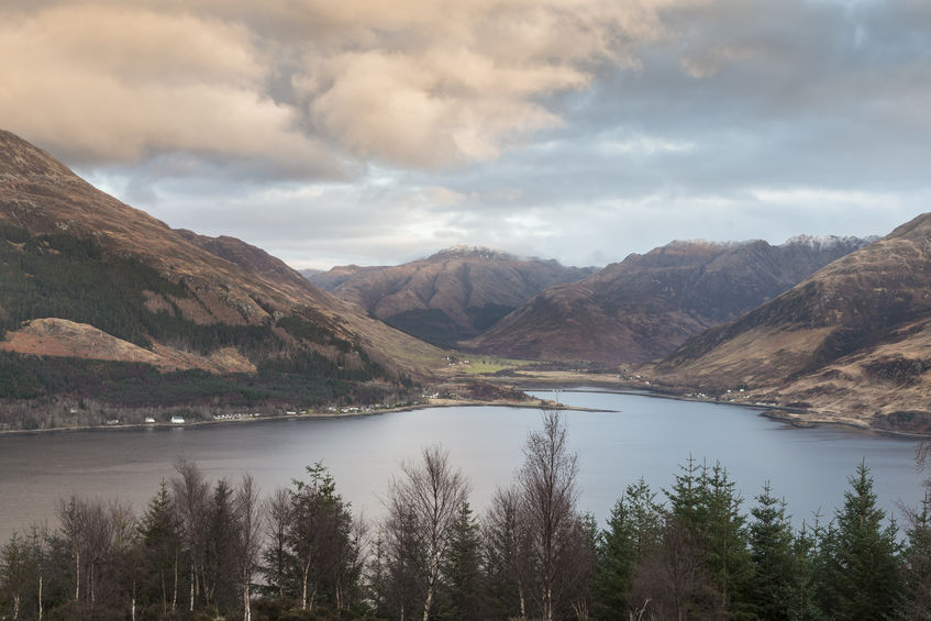 Loch Duich with Five Sisters of Kintail in the background